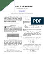 Properties of Microstripline