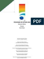 Programa de Estudio de 6° 2009