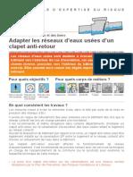 FICHE 5 - CLAPET ANTI RETOUR