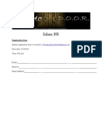 Islam 101 Registration form