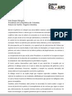 Carta Pública y Abierta Al Señor Presidente de Los Colombianos-1