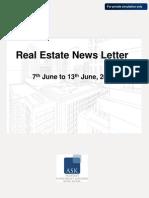 Real Estate News Letter 7th Jun -13 Jun 2010