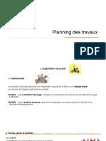Planification travaux