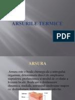 arsurile termice