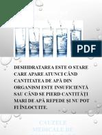 Ingrijirea pacientului deshidratat