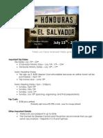 Mission Trip to El Salvador and Honduras 2011