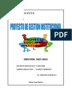 PROYECTO INSTITUCIONAL U.E CUPESI TERRADO