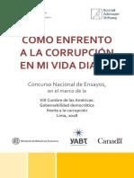 Concurso de Ensayos CÓMO ENFRENTO A LA CORRUPCIÓN EN MI VIDA DIARIA