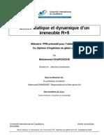 Etude Statique Et Dynamique d'Un R+5