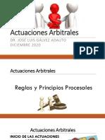 actuaciones arbitrales