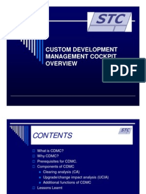 3 - The Custom Development Management Cockpit- STC