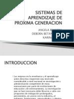 Sistemas de Aprendizaje de Proxima Generacion