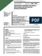 NBR 1189, NBR 11155- Interpretação Estatística de Dados- Intervalos de Tolerância Estatísticos (1