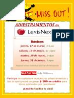 Adiestramientos Básicos LexisNexis 2011