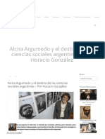 Alcira Argumedo y El Destino de Las Ciencias Sociales Argentinas - Por Horacio González _ La Tecl@ Eñe Revista