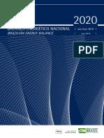 Balanço energético nacional 2020