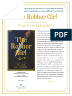 The Robber Girl by Franny Billingsley Author's Note