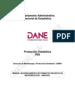 Manual Diligenciamiento de Formatos Encuesta de Micronegocios - Emicron