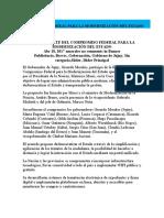 COMPROMISO FEDERAL PARA LA MODERNIZACIÓN DEL ESTADO