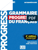 Grammaire Progressive Du Français Intermediaire 4e