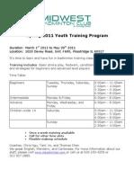 Spring 2011 Youth Training Program