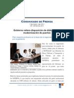 Gobierno reitera disposición de diálogo  para modernización de puertos 2 Mar. 2011