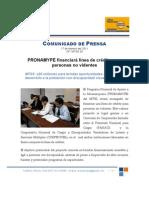 PRONAMYPE  financiará línea de crédito para personas no videntes Feb. 17, 2011