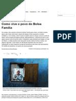 Aula 17 - Como vive o povo do Bolsa Familia
