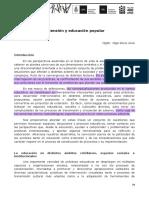 Silvia Avila- Extensión y Educación Popular