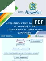 Determinantes de Ordem n e suas propriedades (1)