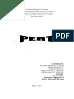 metodo o modelo PERT