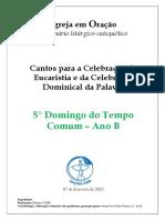 Caderno_5° Domingo Tempo Comum_B