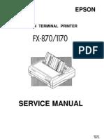 manual de servicio epson fx-1170