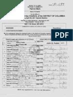 Challenged Patrick Mara ballot petitions