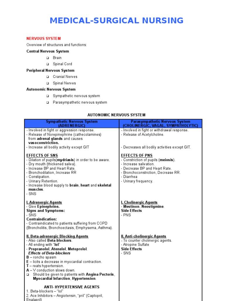 MEDICAL SURGICAL NURSING REVIEW NOTES | Stroke | Embolism