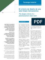 Criterio Diseño Sala Limpia Farmaceutica