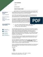 School Board Notification Letter From DRHD