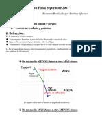 I Medio - Física - Resumen Física Sept 2007