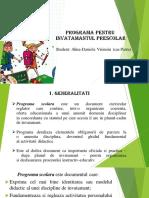 Programa pentru invatamantul preșcolar