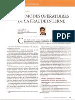 LES MODES OPERATOIRES DE LA FRAUDE INTERNE