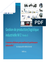 Gestion de Production - Logistique Industrielle - M2 - M. BENADELOUAHAB