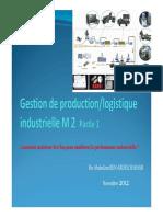 Gestion de Production Partie 1 A