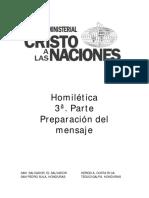 Homiletica 3a parte - Preparacion del mensaje