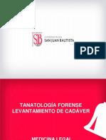 7.-Tanatología Forense. Levantamiento de Cadáver