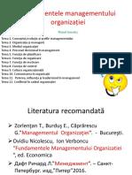TEMA. Evoluția Managementului (1)