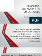 Minicurso BIM AGORA É LEI EM LICITAÇÕES - Aula 27.03.2019