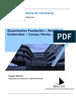 Quantitativo Fundações