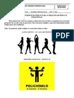 EXERCÍCIO FÍSICO SIMPLES EM CASA