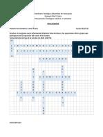 Examen(crucigrama) PTC Rainer