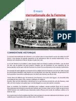 CF -Journée Internationale de la Femme - 2021 - Fr